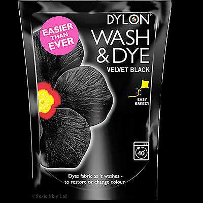 Dylon® - 350g Wash & Dye  Large Velvet Black - Machine Wash - Clothes Fabric Dye