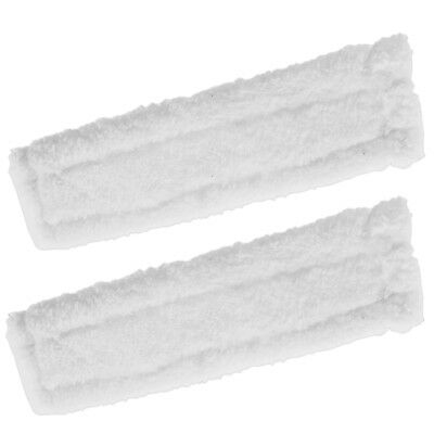 2 x KARCHER WV55 Window Vacuum Cloths Covers Spray Bottle Glass Vac Cleaner Pads