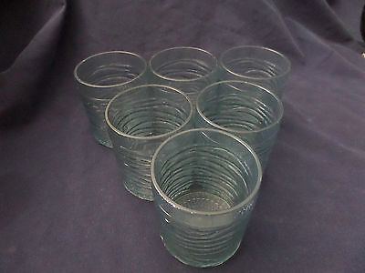 6 Blue Acrylic Ripple Drinking Tumblers Cups