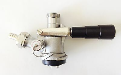 American Sankey Beer Keg Tap Coupler Stainless Steel Body Brass Probe D System