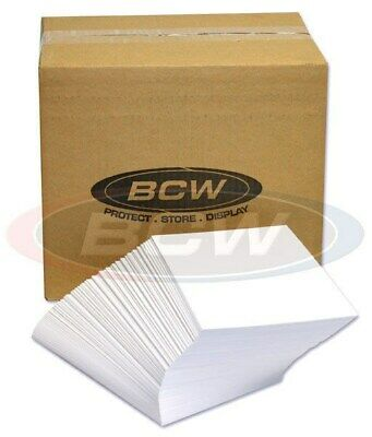 Case of 1000 Bulk Packed BCW Silver Age Acid Free Comic Book Backer Boards