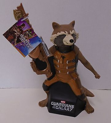 """GUARDIANS OF THE GALAXY """"ROCKET RACOON"""" Bank Bust Statue Marvel Comics NWT"""
