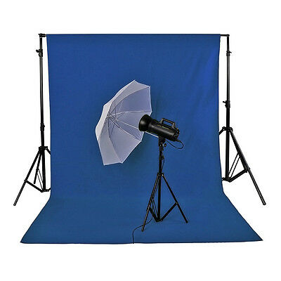 Neewer Blue 1.8x 2.8M/6 x9ft Photo Studio Muslin Collapsible Backdrop Background