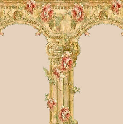 Dolls House Wallpaper Vintage style 1/12th scale Quality Paper Beige #303L