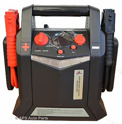 12/24V Jump Starter Heavy Duty Portable Car Booster Pack Battery 2200A New