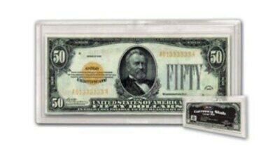 Box of 25 BCW Currency Slab Holders LARGE OLDER US BILL 2-piece snap protectors