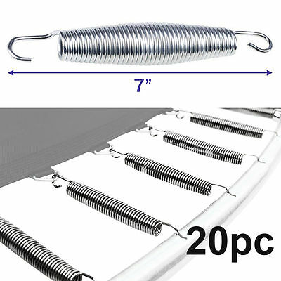 "20pc 7"" Inch Trampoline Springs Heavy-Duty Galvanized Steel Replacement Set Kit"