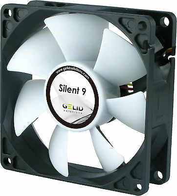 Gelid Solutions Silent 9, Quiet Case Fan, 9cm / 90mm - 1500rpm - FN-SX09-15