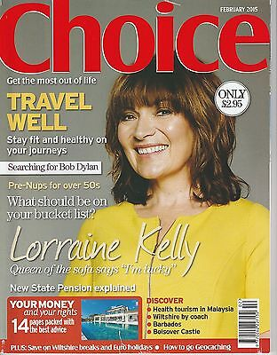 Choice Magazine - February 2015 - Lorraine Kelly