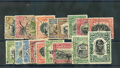 North Borneo  1897-1931 F-Vf Used Town Cancels 18 Different $84