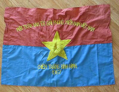 Viet Cong Vc Nlf Nva 1967 Binh Dinh Chien Thang-Means Victory/liberate Flag