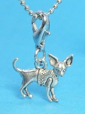 Chihuahua Dog Breed Lovers Clip - On Charm solid Pewter