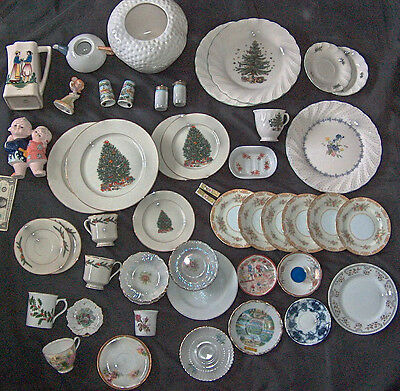 50 Lot Made In Japan Plate Dishes Cup Saucers Pitcher Shakers Figures Bowls Vase