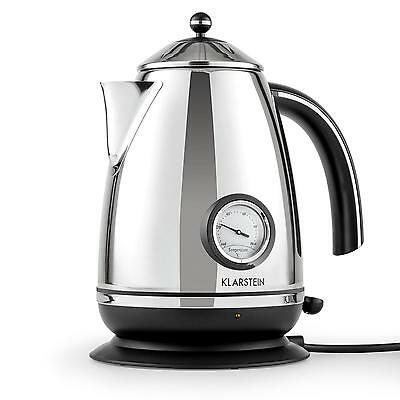 2200W Cordless Electric Kettle 1.7L Fast Water Boiling Polished Stainless Steel