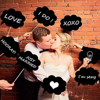 10PCS New DIY Masks Photo Booth Props Mustache On A Stick Wedding Birthday Party
