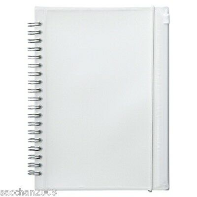MUJI  Polypropylene cover double ring with pocket notebook A5 dot grid 90 sheets