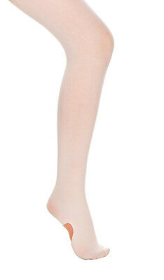 Girls Ladies Pink Convertible Ballet Dance Tights 60 Denier By Katz Dancewear