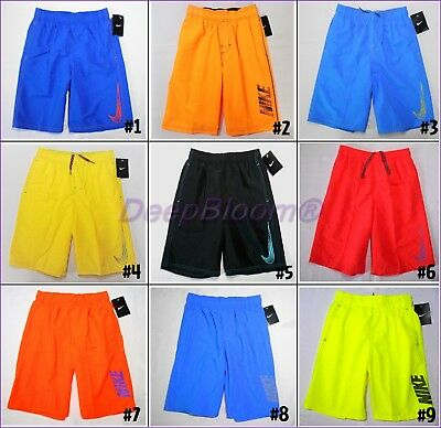Nike Swim Suit Board Shorts Trunks Boys 8 10 12 14 16 18 20 Volley Neon New