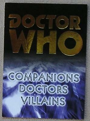 Dr Doctor Who Trilogy Gold Foil Binder Promo Trading Card B1 from Strictly Ink