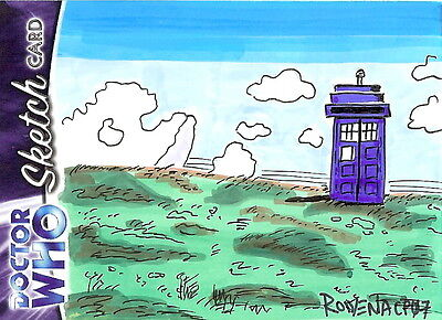 Dr Doctor Who Trilogy Sketch Card by Rowena Pararigan /3