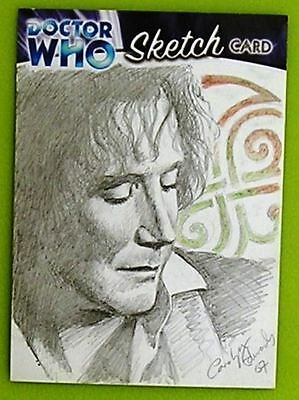 Dr Doctor Who Trilogy Sketch Card drawn by Carolyn Edwards /3