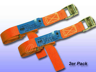 2er Spanngurt m. Klemms. Orange B= 25 mm L=10 m/250 daN