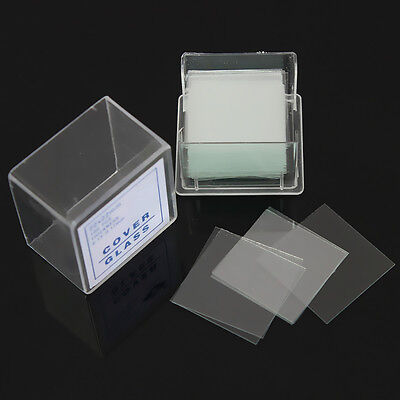 100PCS 22X22mm Blank Microscope Square Cover Glass Coverslip Slides Lab Set