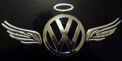 CAR CHROME GOLD Halo And Angel Wings Badge 3D Logo Decal