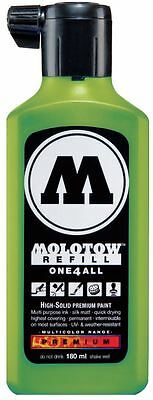 MOLOTOW ONE4ALL REFILL ACRYLIC INK - 180ml BOTTLE - USE IN AIRBRUSH OR MARKER