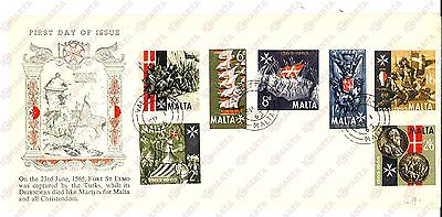 1965 STORIA POSTALE MALTA 1565 - Fort St. ELMO captured *First day of issue