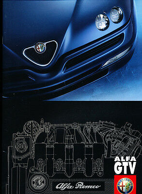 1999 Alfa Romeo GTV and Lusso Coupe 36-page UK Car Sales Brochure Catalog