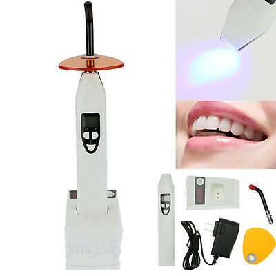 New 5W 2000mw Dental Dentist Wireless Cordless LED Curing Lamp Cure Light White