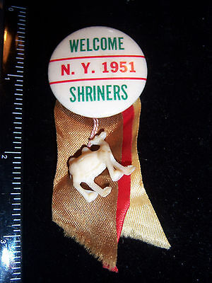 1951 Welcome N.Y. 1951 Shriners Pinback Button