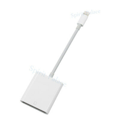 UK Lightning 8 Pin to SD Card Camera Reader Adapter Cable For iPad 4 mini Air 2