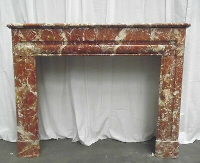Cheminee Boudin Rouge Marbre  / Fireplace Marble Red