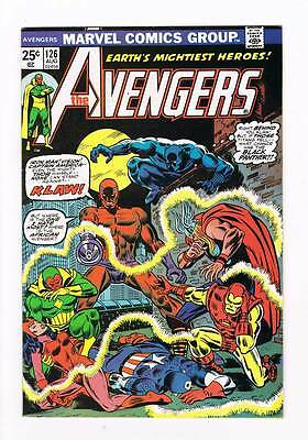 Avengers # 126 Sounds and Sights of Death! Klaw Black Panther grade 8.5 hot !!