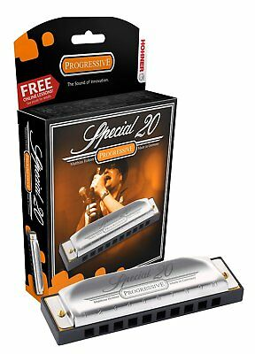 Hohner 560PBX-C Special 20 Progressive Harmonica with Free Lessons - KEY OF C