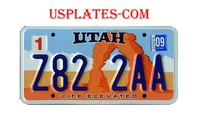 Utah Arch Real Authentic License Plate Auto Number Car Tag National Park Rock Ut