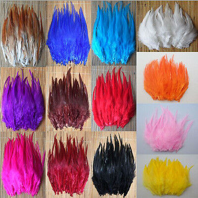 wholesale 50/100/200pcs natural dyeing rooster feathers 4-6inch/10-15cm