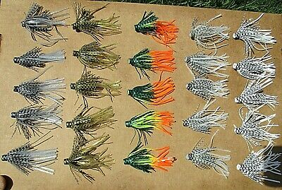 25ct ASSORTMENT 2.5 inch SILICONE SKIRTS,Pro Style Push-On,Bass Spinnerbaits