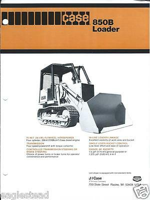 Equipment Brochure - Case - 850B - Crawler Track-type Loader - c1978 (E2211)