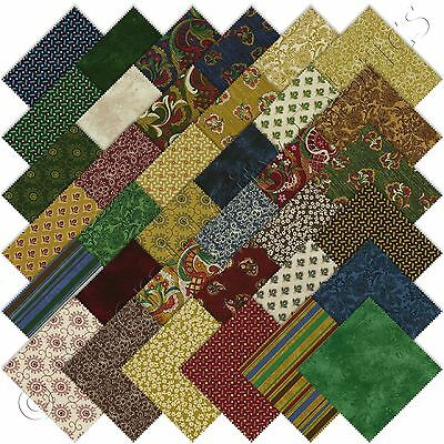 "RJR Briarcliff Charm Packs 36 5"" Precut Cotton Quilt Quilting Fabric Squares Kit"