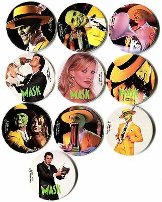 POGS - H-MASK 9 001 Lot de 9 Pogs THE MASK 1994