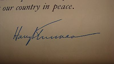 vintage harry truman signed WWII 1947 document