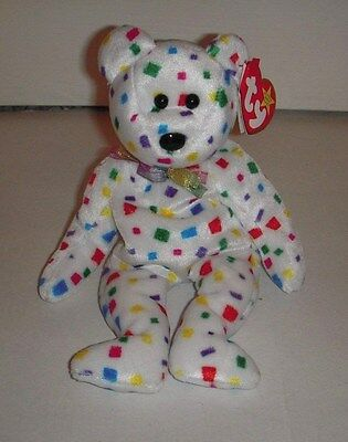 "Ty Beanie Baby ""2K"" The Bear - DOB: 1-1-00 - NWT"