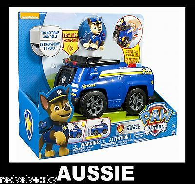 PAW PATROL Deluxe Transforming Talking, Sounds Vehicle ~ CHASE CRUISER On A Roll