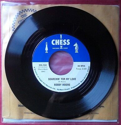 "Bobby Moore & The Rhythm Aces - Searchin' For My Love VINYL 7"" SINGLE Soul 45"