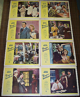 TANGIER INCIDENT (1953) GEORGE BRENT NOIR * ORIGINAL 8 CARD LOBBY SET