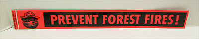 """SMOKEY THE BEAR VINTAGE """"PREVENT FOREST FIRES"""" RED BUMPER STICKER UNUSED"""