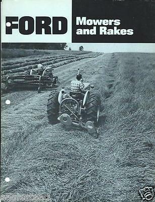 Farm Equipment Brochure - Ford - 501 503 508 515 - Mower Rake - c1970 (F3191)